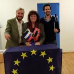 Marcel Schneider, Ulrike Fink und Sven Ehrhardt zur europäischen Flüchtlingspolitik