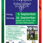 Plakat Weinfest Rednitzhembach 2016