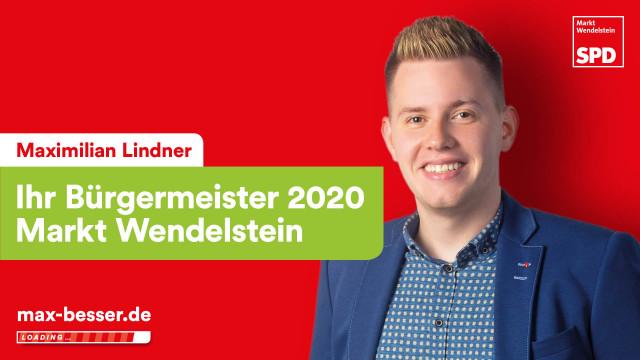 Bürgermeisterkandidat Maximilian Lindner: mit Hinweis auf seine Webseite max-besser.de